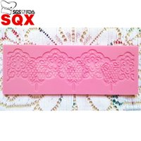 baking fimo clay - DIY Pink flower lace Silicone Cake Fondant Mold Chocolate Ice Cube Tray Mould Fimo Clay Maker Baking Tool