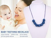 silicone beads - Geometric Silicone Teething Necklace BPA Free Silicone Teething Beads For Baby Nursing Necklace Soft and Safe Chew Beads