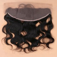 Wholesale Slove Hair virgin Brazilian Body Wave lace frontal closure x4 with baby hair body wave swiss lace frontal closure