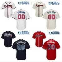 best atlanta - Best Quality Men s Custom Atlanta Braves Jersey Personalized Black Red White Baseball Customized Jerseys Size M XXXL