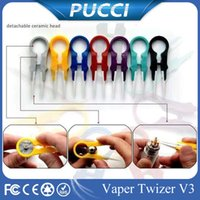 adjustment tool - In Stock Vaper Twizer Wrapping Coiler Adjustment Wire Spanner Tool Insulated Ceramic Tweezer for DIY ecigarette Mod Vapor Vape RDA