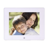 achat en gros de cadre numérique usb-2015 TFT, SD, USB LCD Wide Screen Digital Desktop 7 pouces TFT LCD écran large Digital Photo Frame Bureau 1pcs Photo White