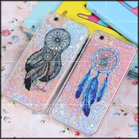 apple dream - 2016 new Dream Catcher pattern luxury glitter stars dynamic liquid quicksand phone case cover Fitted Case For iPhone s plus