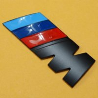 Wholesale Matte Black M Power Racing Motorsport Logo Car Badge Rear Trunk Emblem Decal Car Styling Accessories for BMW