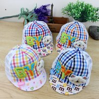 baby caps and hats patterns - Baby Hats Fashion Kids Sunshade Caps Boys and Girls Casquette Cotton Letter Bear Pattern Children s Hat Factory Price