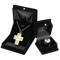 Wholesale Sofa Earring - 2016 New Design Jewelry Organizer Gift Box Black Sofa Velvet Square Jewelry Display Storage Boxes For Ring Necklace Earrings