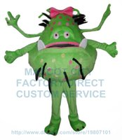alien fancy dress - Green Cartoon Bacterial Germ Alien Girl Mascot Costume hot sale health theme virus anime costume carnival fancy dress kits suit