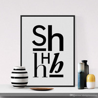 alphabet posters - Black White Nordic Minimalist TyModern Black White Alphabet Typography Minimalist Letter Poster Prints Hipster Canvas Painting No Frame Home