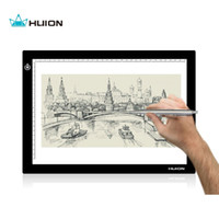 Wholesale Huion Inches LED Artcraft Adjustable Lightness Tracing Tattoo Quilting Light Pad Light Box with USB cable L4S