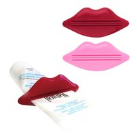 Wholesale Sexy Lip Kiss Bathroom accessories Plastic Tube Cream Squeezer Toothpaste Dispenser Brand New