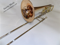 Wholesale BbFEbD Bass Trombones Gold Brass Bell with Foamcase Musical instruments for Sale Factory Supply