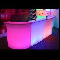 Wholesale morder design rgbw colors changing pe plastic led lighting up straight bar counter with remote control