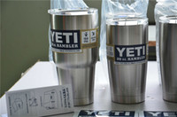Wholesale yeti Rambler Tumbler Stainless Steel oz Cup Can be used for both hot and cold liquids
