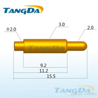antenna current - Tangda pogo pin connector DHL EMS D3 mm A Spring thimble Battery connector probe Gold plated copper large current antenna