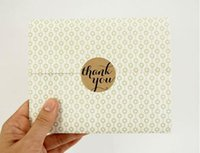 Wholesale 600 Adhesive Label Kraft Paper quot Thank You quot Sticker Envelope Seal