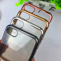 Wholesale TPU Case For iPhone Plus Plating Cases Gilded Ultra Thin Silicone Electroplate Samsung Galaxy S7 S6 edge Note