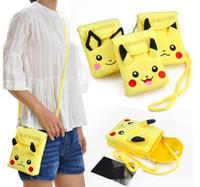 Wholesale Pikachu plush wallet coin purse momey scholl bag women Children kids cartoon Poke Ball mini Jeni turtle Sylveon Keychain wallets