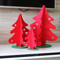 Wholesale 3Sizes Christmas Trees Non woven stereoscopic Xmas tree Ornaments cm