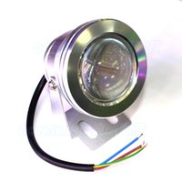 Wholesale Silver cover red blue green underwater led lights IP68 W led underwater pool light convex lens underwater led lamp