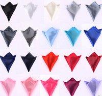 Wholesale 20pcs Men dress suit pocket towel Pure color handkerchief small squares Wedding banquet requisite bow tiesBow tie