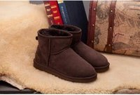 american borders - European and American fashion Cheap China Brand Cute Furry Black Blue Boots Faux Fur Leather Suede Australia Winter Snow Boots Shoe wi