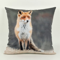 Wholesale 45cm cm Fox Cushion Cover Animal d Digital Printing Decorative Throw Pillows Cover for Couch Sofa Pillowcase