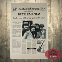 Wholesale The Classic Beatles EMANLA NEWS Metal painting Wall Decor Bar House Office Tin Sign G Mix order CM