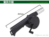 barbecue cast iron - whilesale hot selling new Manual blower barbecue with a hair dryer hand blower outdoor barbecue supplies barbecue blower