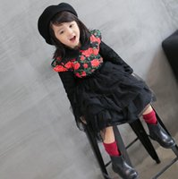 baby cake pan - Baby Girls Christmas New Collection Vintage Floral Cake Layered Party Dress Peter Pan Collar Lace Flower Dress