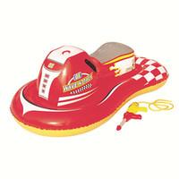 Wholesale 2016 Fashion Pool Float Speedboat car wave attack Water Gun Motorbike Cartoon Children Baby Swimming toy Swim Seat Ring