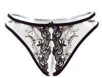 Wholesale Sexy Extreme temptation Open fort and transparent bud silk underwear Temperament and interest Exquisite embroiderye T lingerie