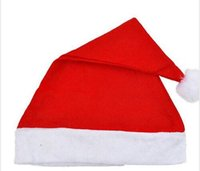 Wholesale Christmas Hats Red adults Christmas Cosplay Hats New Year Decoration Christmas Decoration Cloth Hats Santa Clause Navidad Caps Festival