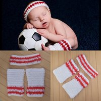basketball team photos - New Crochet Baby Boy Sweatband Tube Sock Photography Props Knitted Leg Warmers Sports Team Basketball Photo Prop set