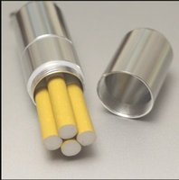 Wholesale Silver Aluminum Alloy Capsule Pill Case Waterproof Toothpick Cigarette Holder Storage