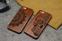 Wholesale Laser Carving Natural Rosewood PC Plastic Case Cover Phone Shell Skin For iPhone S Plus S SE