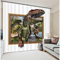 Wholesale 3D Curtains for living room bedroom Dinosaur Window Curtain Kids Boys Blackout Luxury drapes Modern Hotel animal Tailored made