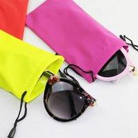 Wholesale 100pcs Glasses Case Durable Waterproof Dustproof Leather Plastic Sunglasses Pouch Soft Eyeglasses Bag Multicolor cm Eyewear Accessories
