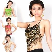 Cheap NEW Ruffle Wrap Top Belly Dance Choli Gypsy Indian Costume Tribal Club Dress 10 Colors PE4