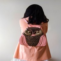 animal cell types - Fashion and the wind Bag Handmade Vintage owl type bag new trend of women s dual single shoulder bag backpack