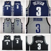 allen iverson clothing - Cheap Throwback Basketball Jerseys Georgetown Allen Iverson Basketball Jersey college Allen Iverson shirt gym clothing