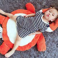 Wholesale 95 CM Soft Elephant Fox Shape Plush Baby Play Mat Lovely Cartoon Tapete Infantil Carpet