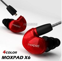 Wholesale Moxpad X6 In ear Earphone sport with Mic headphone for Mobile Cell Phones Replacement Cable Noise Isolating Headphone keep good voice