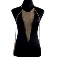asian heavy metal - M178 Noble heavy metal style BODY CHAIN NECKLACE Exquisite Necklaces for women Beach BIKINI fashion lady body chains Highlights body chains