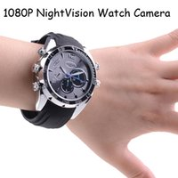 Wholesale New Waterproof G Night Vision Watch Camera HD P Watch Camera IR Watch Camera DHL High quality