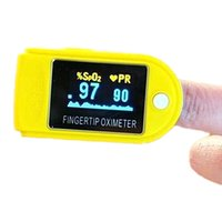 Wholesale Fingertip Pulse Oximeter Alarm Spo2 Blood Monitor Blue Black White Green Pink Yellow New Fingertip Pulse Oximeter LED Display