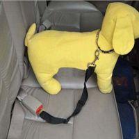Wholesale 2016 New Cat Dog Pet Safety Seatbelt Car Vehicle Seat Belt Harness Lead Adjustable Leash