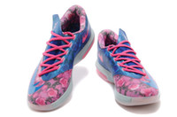 Wholesale kd Aunt Pearl Kds Sneakers KD6 VI Supreme What The KD Basketball shoes Men Floral Sport Shoes For Sale Size