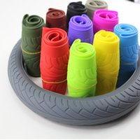 Wholesale Soft Silicone Car Steering Wheel Covers Anti slip Breathable Four Seasons General Silica Gel Wheel Cover