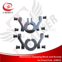 aluminium blocks - High Quality Aluminium Pipe Clamp Connect plate Fixing Aluminium Block amp Screws For Mounting Scooter Front Fork