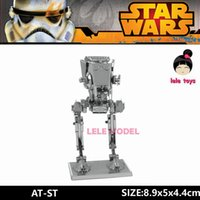 animal etchings - AT ST inch Assembling Star Wars D Metal model Etching puzzle stainless steel DIY creative gifts ICONX Sheets